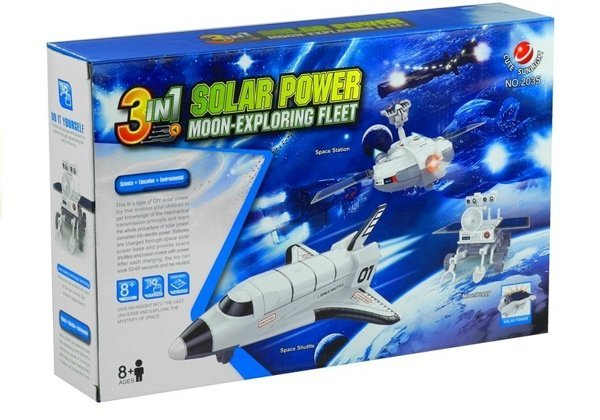 Space Plane Solar Power 3 in 1 Moon Exploring Fleet DIY Creative