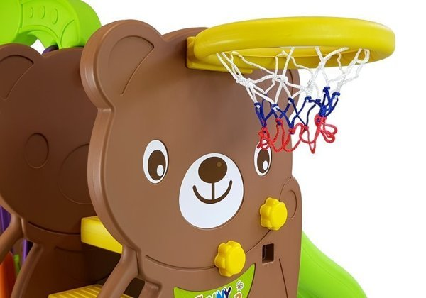 Swing and Slide Garden Set BEAR HDPE Basketball