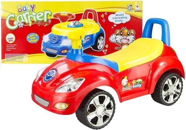 Toddler Ride On Push Along Car With Sounds