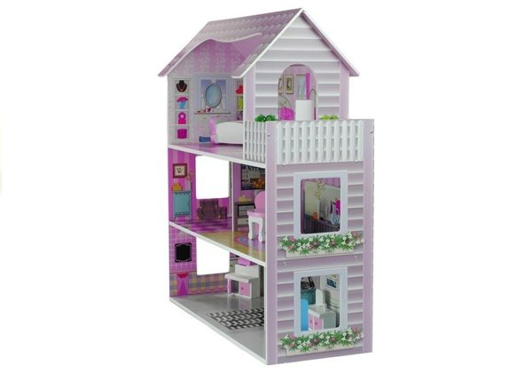 "Wooden Dolls House ""Stefie"" Multi-Storey with 5 Rooms"
