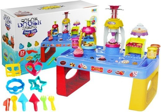 Big Set of Desserts Play Dough Table + Accessories