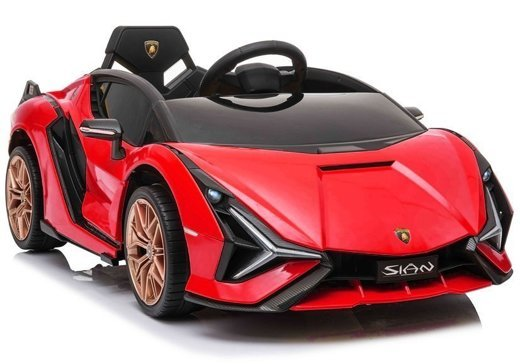 Electric Ride On Car Lamborghini Sian Red