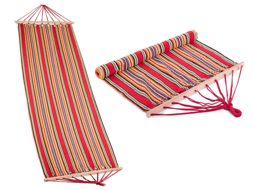 Hammock with Slat Colorful Stripes
