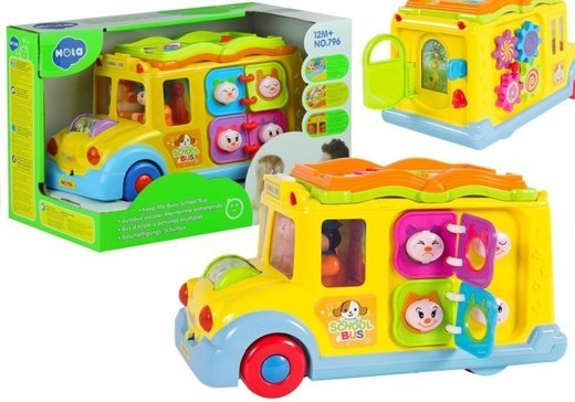 Intellectual School Bus Baby Toy Car Educational