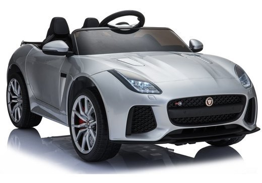 Jaguar F-Type Silver Painting - Electric Ride On Car