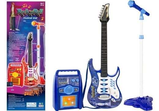 Kids Toy Guitar Amplifier Microphone MP3 Input