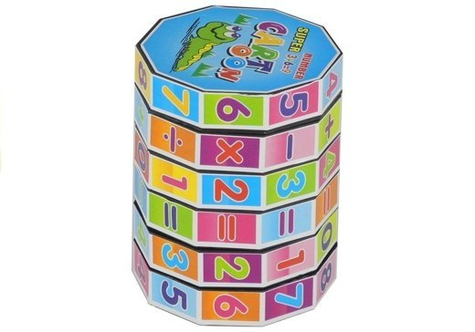 Educational Cube Mathematical Barrel Learning Numbers