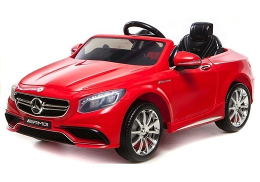 Mercedes S63 AMG Red - Electric Ride On Car - Rubber Wheels Leather Seat RC