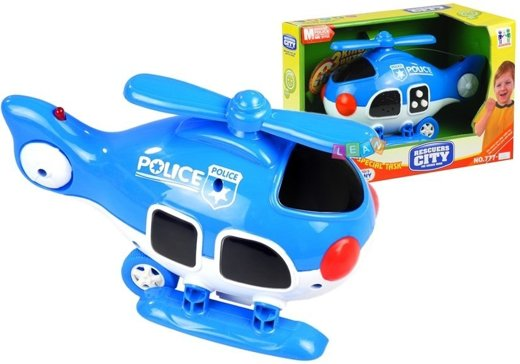 Police Helicopter - Battery Operated Toy with Sounds & Lights