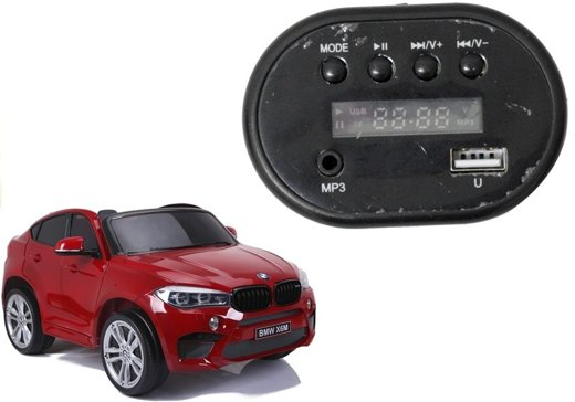 Radio Panel for Electric Ride On Car BMW X6M