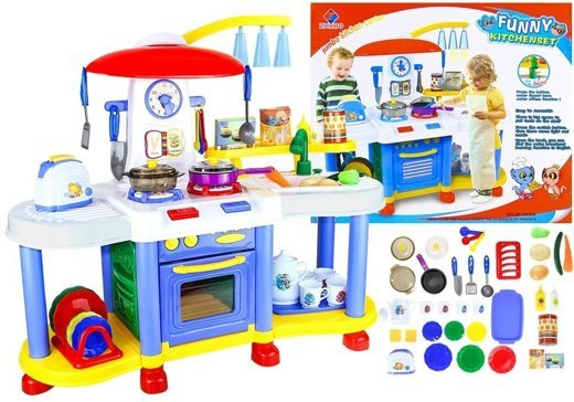 Realistic Roleplay Kitchen Set With A  Working Tap With Water 30 PCS