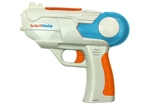 Soap Bubble Gun Battery Operated Blue