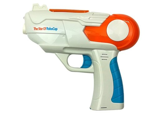 Soap Bubble Gun Battery Operated Orange