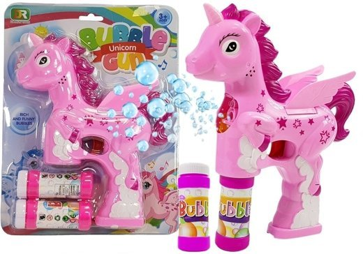 Soap Bubble Gun Pink Unicorn