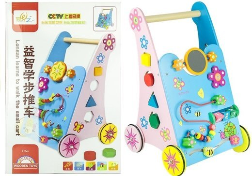 Wooden Baby Walker Push Along With Mirror Toys Toys Of