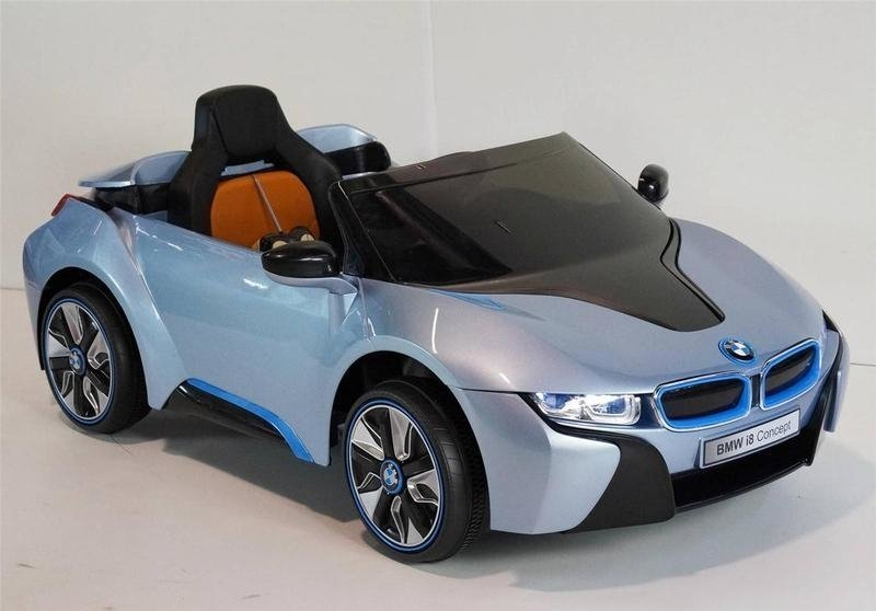 elektroauto kinder bmw i8 blau felgen schalter am lenkrad auto f r kinder elektrofahrzeuge. Black Bedroom Furniture Sets. Home Design Ideas
