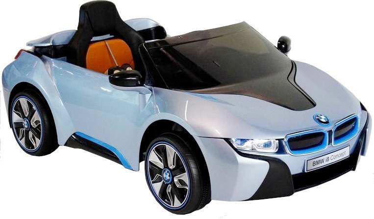 elektroauto kinder bmw i8 blau felgen schalter am lenkrad. Black Bedroom Furniture Sets. Home Design Ideas