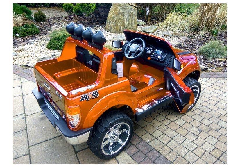 elektroauto f r kinder ford ranger orange fm radio 2 4g. Black Bedroom Furniture Sets. Home Design Ideas