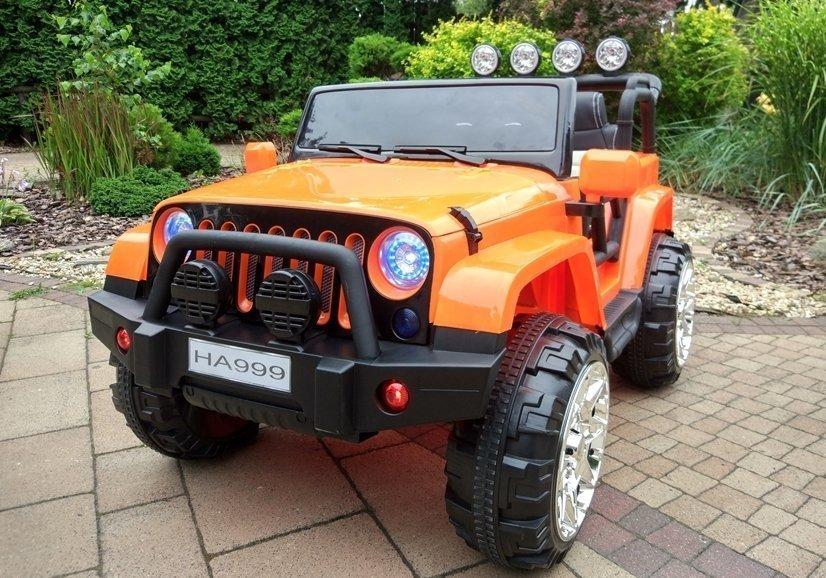 elektroauto f r kinder wxe1688 orange 2 4g 4x45w ledersitz eva reifen auto elektrofahrzeuge. Black Bedroom Furniture Sets. Home Design Ideas