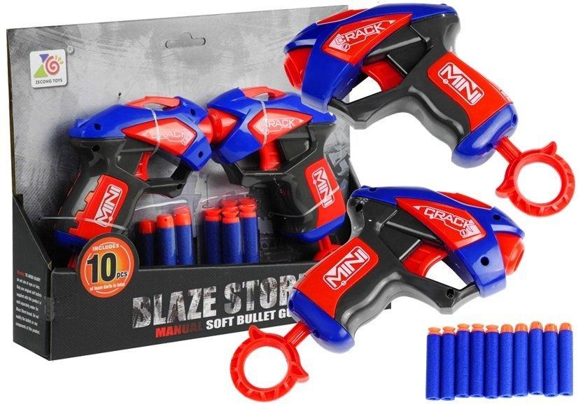 2 pistolen 10 schaumstoffpatronen set spielzeug f r kinder ab 5 jahren spielzeug. Black Bedroom Furniture Sets. Home Design Ideas