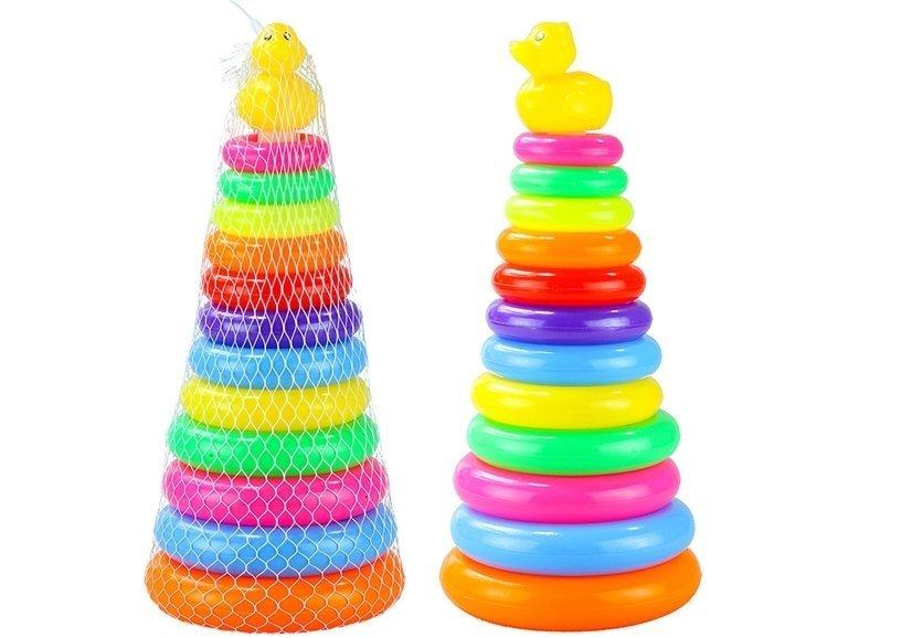 baby ringturm spielpyramide f r kinder ab 6 monaten spielzeug spielzeug f r babys. Black Bedroom Furniture Sets. Home Design Ideas