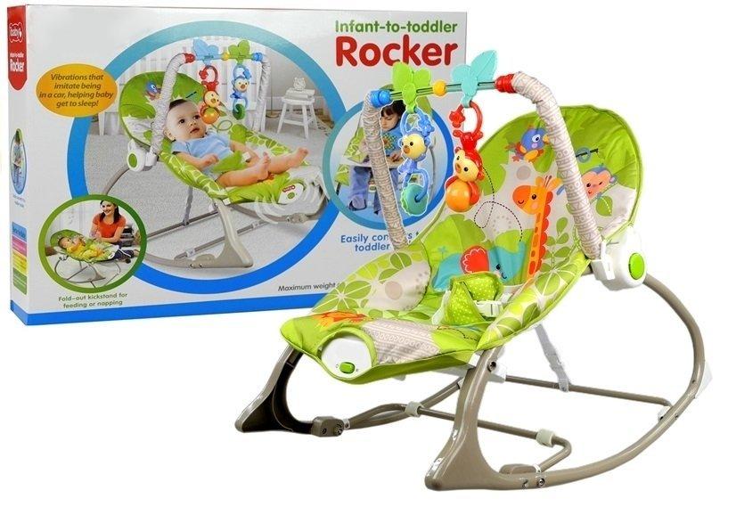 Babywippe 3in1 Wiege Babystuhl Sitz 2 Rasseln Für Babys Spielzeug