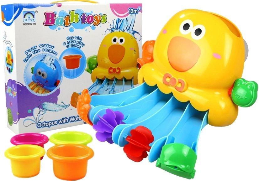 badespielzeug ente 4 bunte becher set f r baby kinder ab 12 monate spielzeug spielzeug. Black Bedroom Furniture Sets. Home Design Ideas