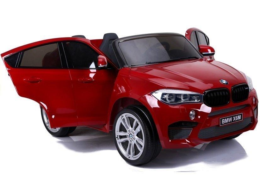 elektroauto bmw x6 rot lackiert kinderfahrzeug ledersitz. Black Bedroom Furniture Sets. Home Design Ideas