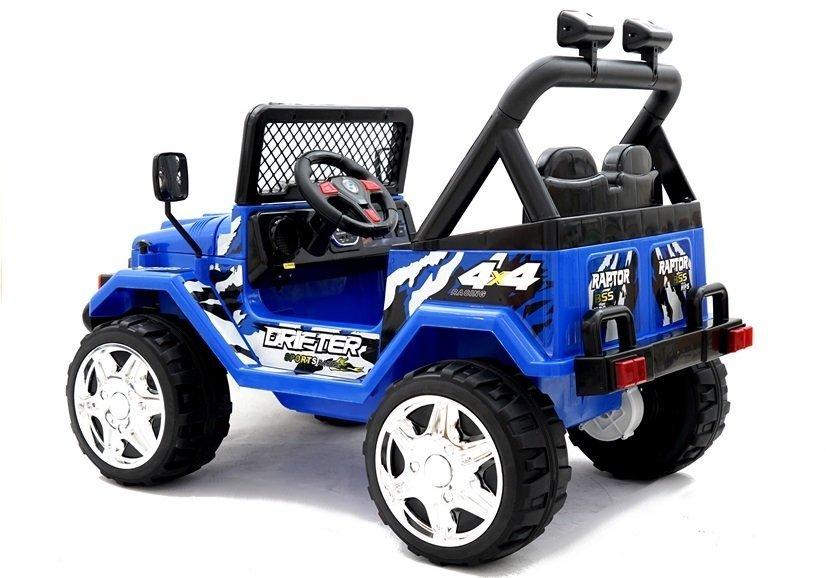 elektroauto für kinder jeep raptor blau 2x45w offroad mit