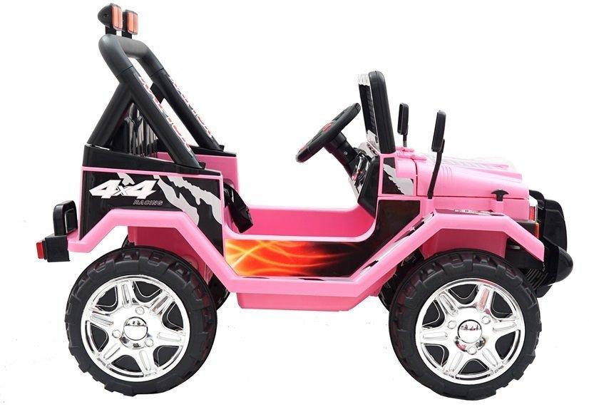 elektroauto f r kinder jeep raptor rosa auto 2x45w elektrofahrzeuge autos. Black Bedroom Furniture Sets. Home Design Ideas