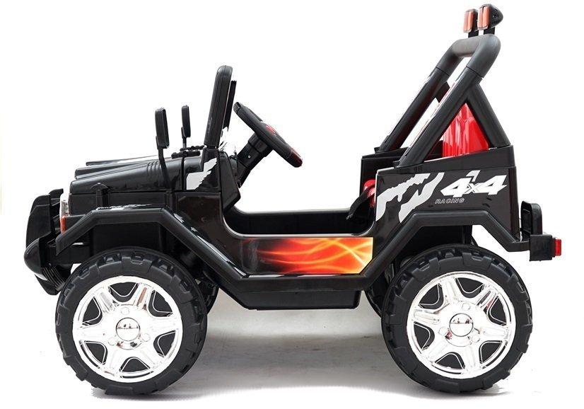 Elektroauto Für Kinder Off-Road JEEP Raptor Schwarz MP3 Fernsteuerung Fahrzeug