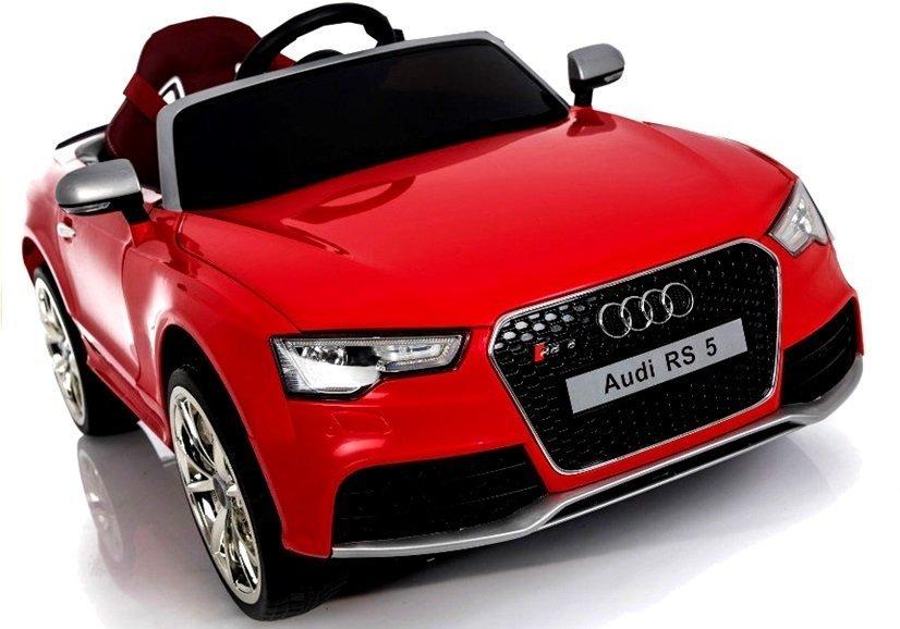 Elektroauto Für Kinder Audi RS Rot 2x45W 2.4G RC Ledersitz