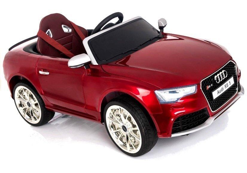 Elektroauto Für Kinder Audi RS Rot Lackiert Felgen Radio