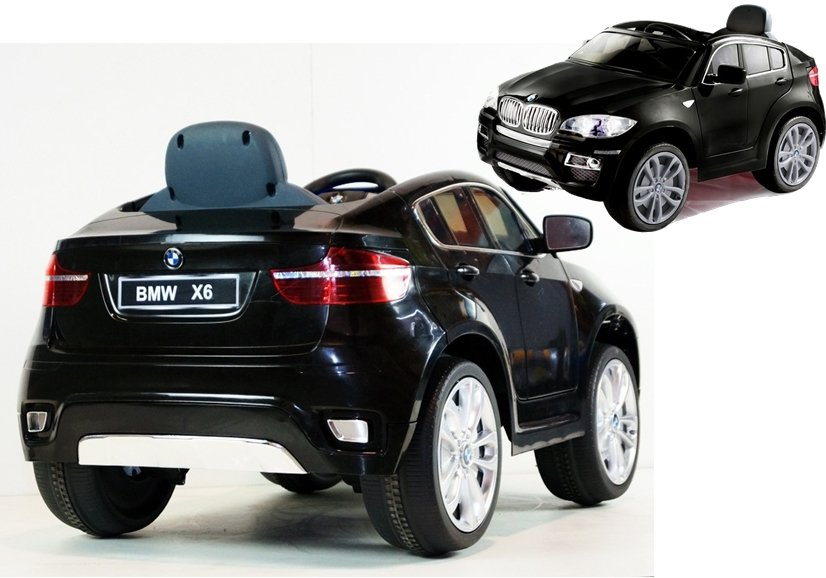 elektroauto f r kinder bmw x6 lizenziert schwarz lackiert ledersitz auto elektrofahrzeuge. Black Bedroom Furniture Sets. Home Design Ideas