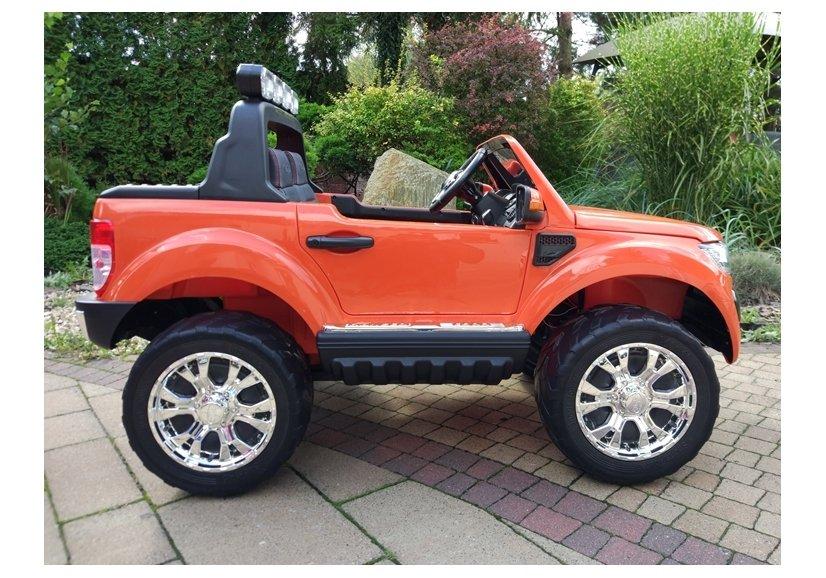 elektroauto f r kinder ford eva reifen orange 4x4 auto f r. Black Bedroom Furniture Sets. Home Design Ideas