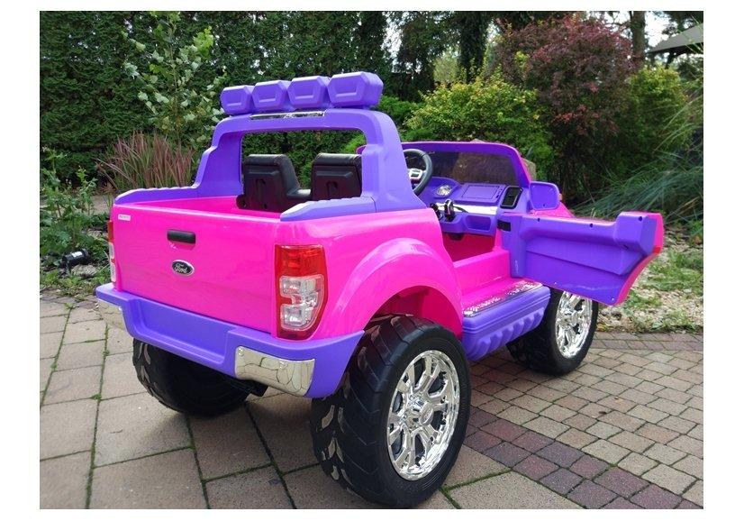 elektroauto f r kinder ford eva reifen rosa 4x4 auto f r kinder elektrofahrzeuge autos. Black Bedroom Furniture Sets. Home Design Ideas