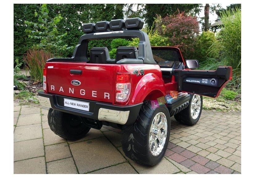 elektroauto f r kinder ford ranger eva reifen rot lackiert 4x4 auto lcd elektrofahrzeuge autos. Black Bedroom Furniture Sets. Home Design Ideas