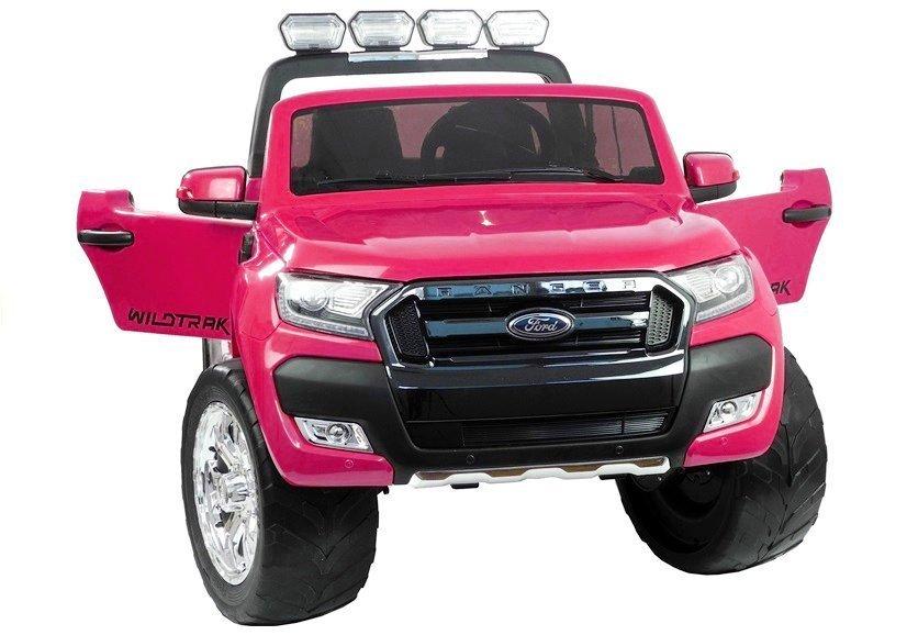 elektroauto f r kinder ford ranger rosa 4x45w 2x12v7ah lcd. Black Bedroom Furniture Sets. Home Design Ideas