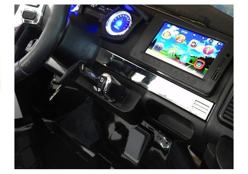 Lean Toys Elektroauto f/ür Kinder Ford Ranger Schwarz 4x45W 2x12V7Ah LCD Panel Eva-Reifen