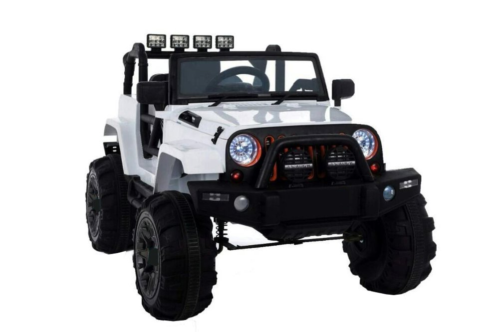 elektroauto f r kinder jeep wh88 wei 2 4g rc eva reifen. Black Bedroom Furniture Sets. Home Design Ideas