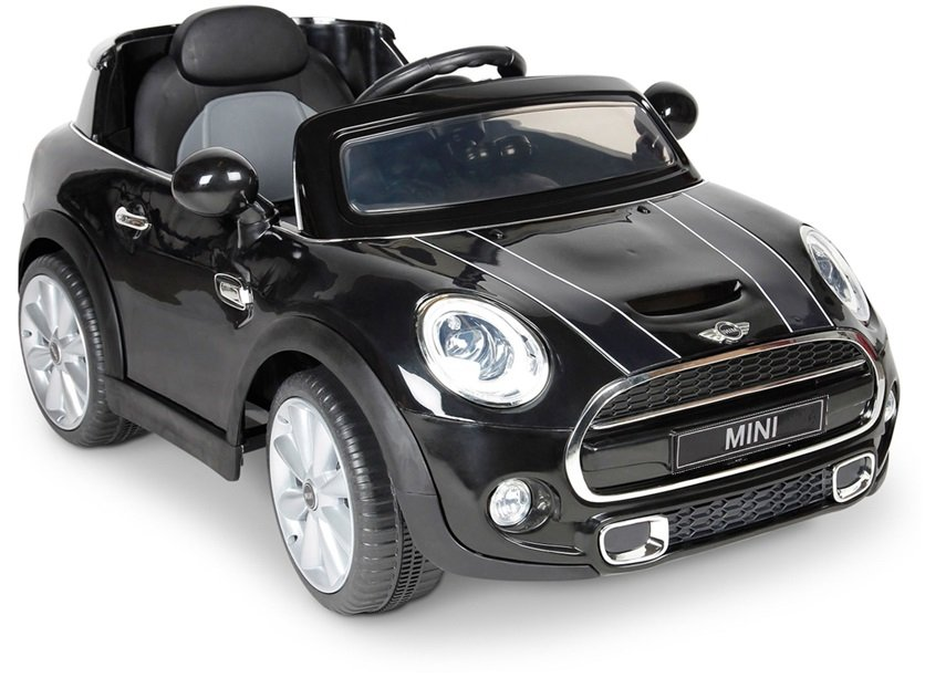 Elektroauto Für Kinder Mini Cooper S Schwarz Ledersitz 2x45w 2 4g Led Auto