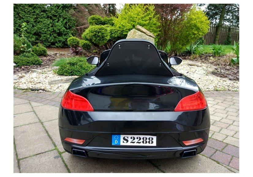 elektroauto f r kinder s2188 schwarz 2x35w 2 4g fernbedienung ledersitz elektrofahrzeuge autos. Black Bedroom Furniture Sets. Home Design Ideas