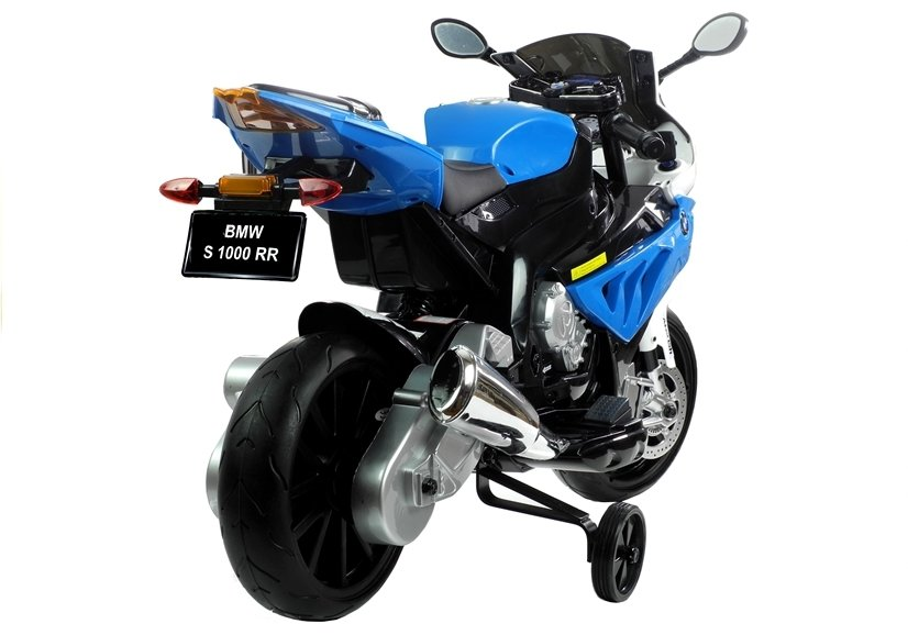 elektromotorrad f r kinder bmw s1000rr blau ledersitz eva. Black Bedroom Furniture Sets. Home Design Ideas