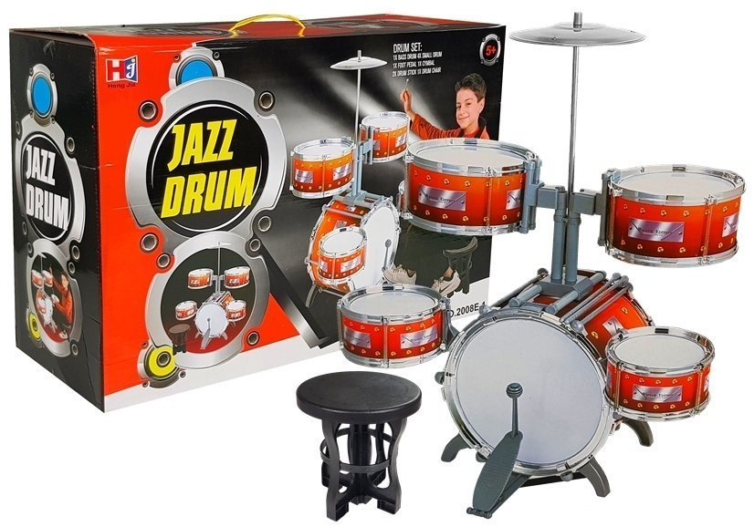 Kinder Schlagzeug Set Jazz Schlagzeug Schlaginstrument Set Drumset Kinder /Über 3 Jahre Alt TONGJI Schlagzeug Kinder Schlagzeug mit 5 Trommeln und 2 Trommelst/öcken 58 x 35 x 74cm