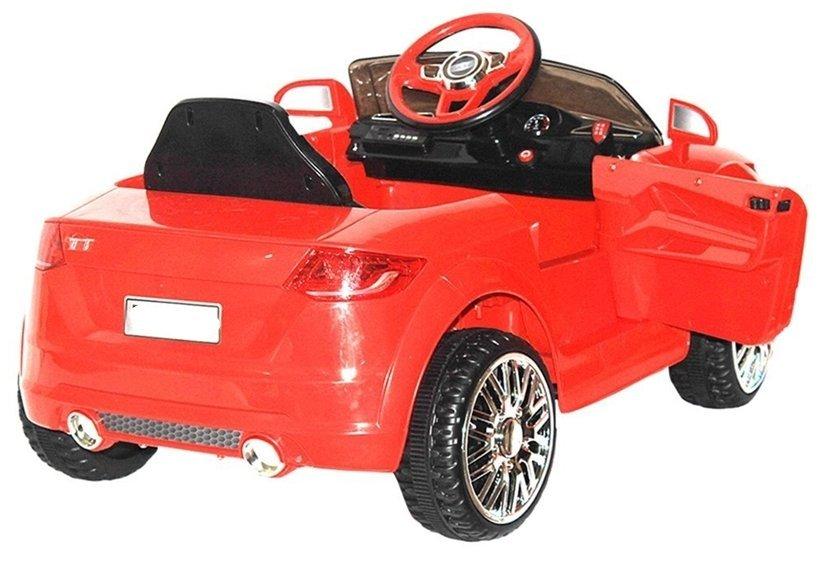 Kinderauto Mit Akku YC518 Rot Auto Für Kinder 2.4G LED