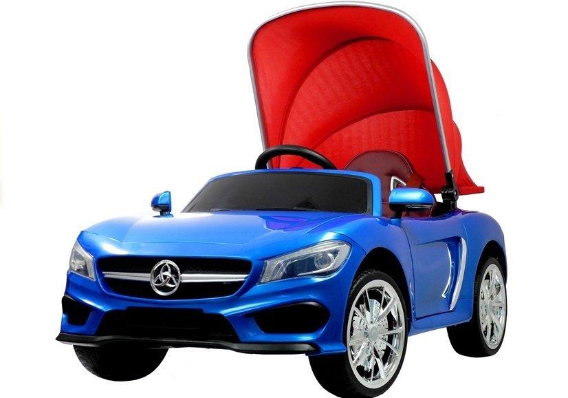 kinderfahrzeug blau ledersitz felgen radio fm cabrio auto. Black Bedroom Furniture Sets. Home Design Ideas