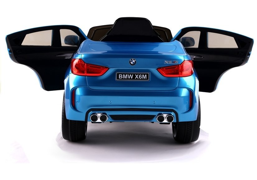 kinderfahrzeug kinderauto bmw x6 blau lackiert auto f r. Black Bedroom Furniture Sets. Home Design Ideas