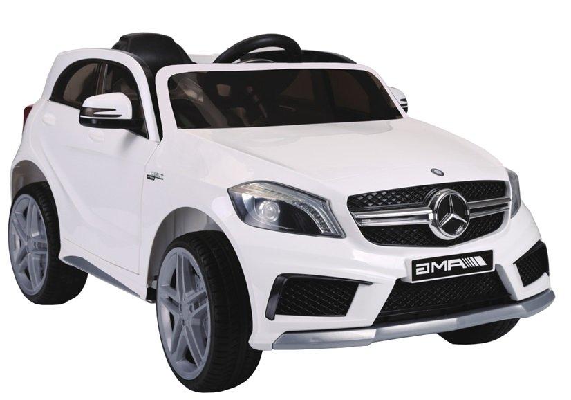 kinderfahrzeug mercedes a45 wei ledersitz eva reifen auto. Black Bedroom Furniture Sets. Home Design Ideas