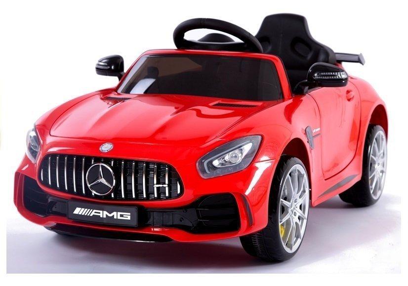 Kinderfahrzeug Mercedes AMG GT Rot lackiert EVA-Reifen Ledersitz Fahrzeug Kinderfahrzeuge