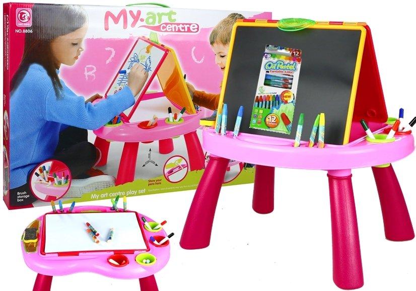 kindertafel tafel f r kinder set kreide buntstifte filzstifte spielzeug maltafel spielzeug. Black Bedroom Furniture Sets. Home Design Ideas